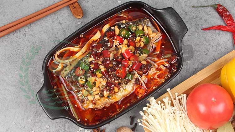 鱼谷稻烤鱼饭-麻辣豆皮烤鱼饭