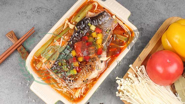 鱼谷稻烤鱼饭-泡椒金针菇烤鱼