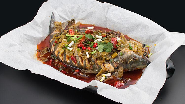 巴国无刺纸包鱼-泡椒烤鱼