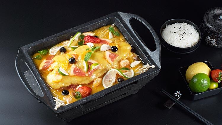 鱼情于你小份烤鱼饭-水果鱼排套餐