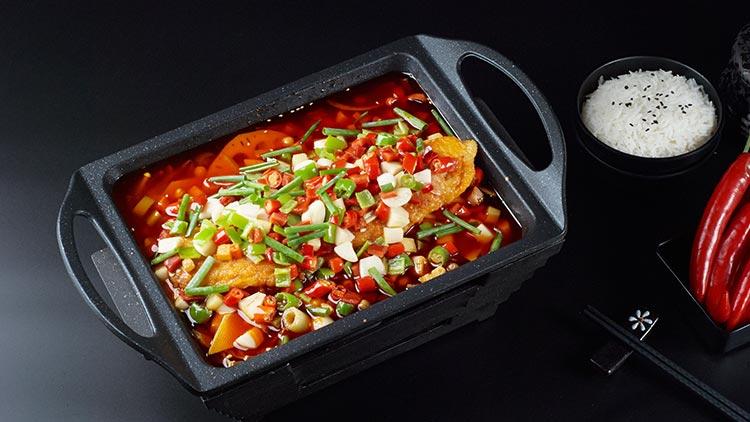 鱼情于你小份烤鱼饭-香辣烤鱼饭套餐