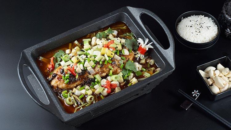 鱼情于你小份烤鱼饭-藤椒烤鱼饭套餐