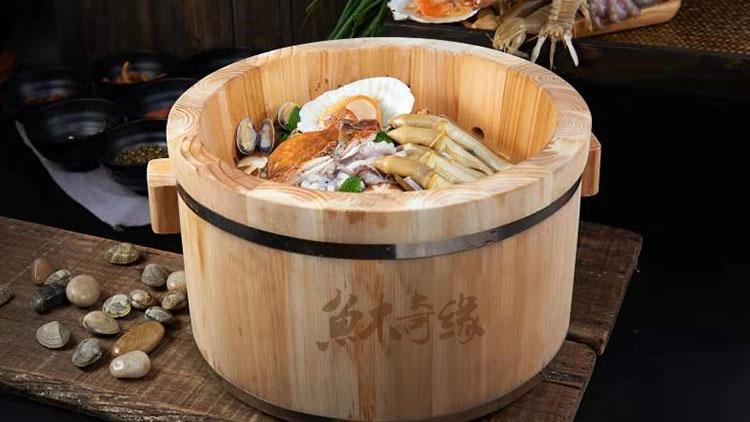 鱼木奇缘木桶鱼火锅-海鲜鱼火锅