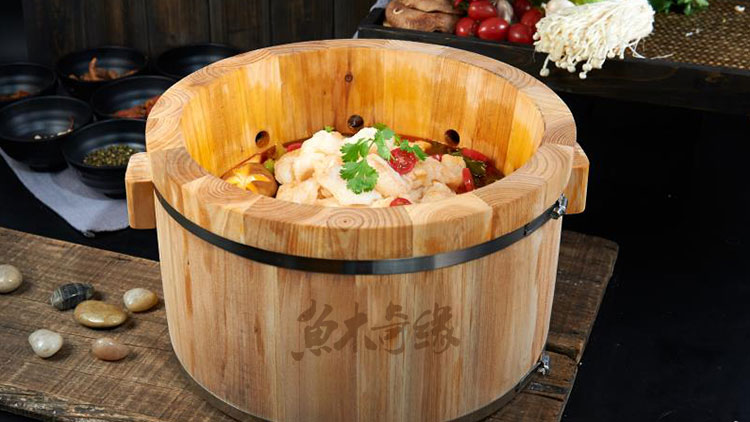 鱼木奇缘木桶鱼火锅-香辣鱼火锅
